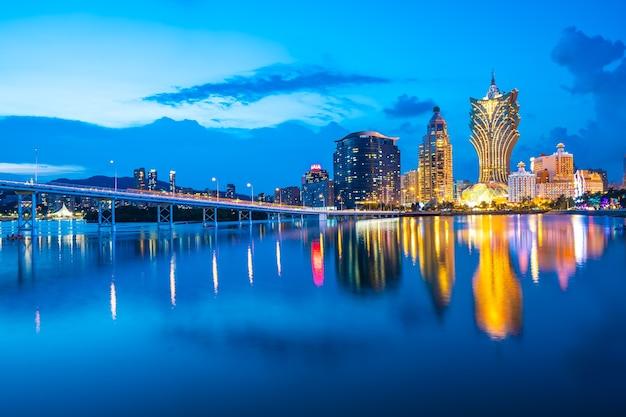 Belle architecture bâtiment paysage urbain à macao
