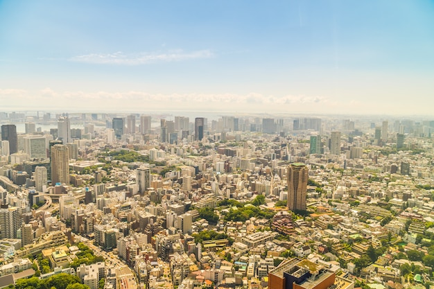 Belle architecture bâtiment tokyo ville avec tokyo tour