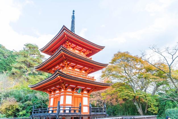 Belle architecture dans le temple kiyomizu-dera kyoto ,.