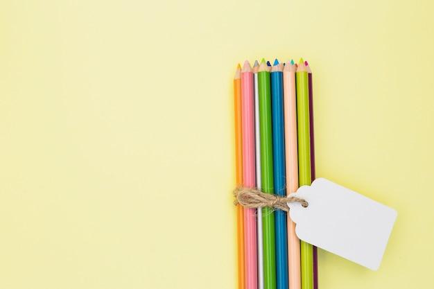 Belle artiste avec des crayons de couleur