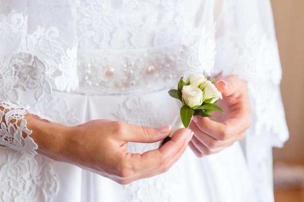Belle boutonnière de mariage
