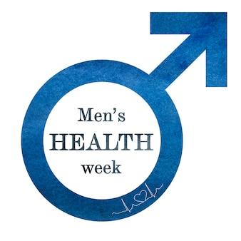 Belle carte postale dédiée à prendre soin de la santé des hommes. gros plan, vue de dessus. félicitations aux proches, parents, amis et collègues