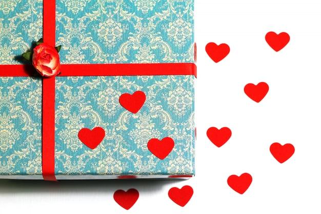 Belle carte pour la saint-valentin ou le fond vintage