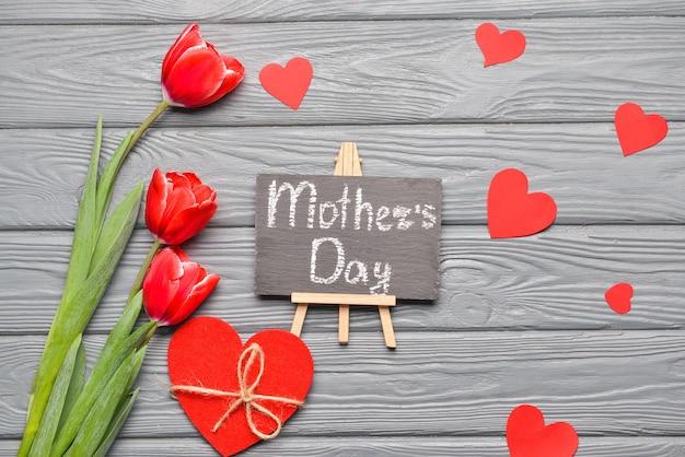 Belle carte de voeux pour la fête des mères
