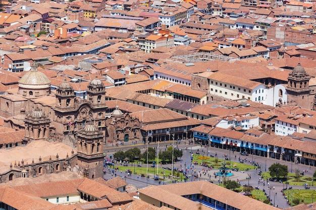 Belle célèbre ville de cusco au pérou.