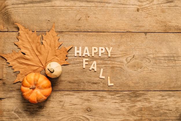 Belle composition d'automne