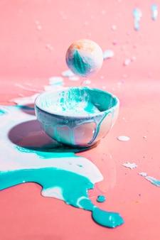 Belle composition avec bol et petite boule