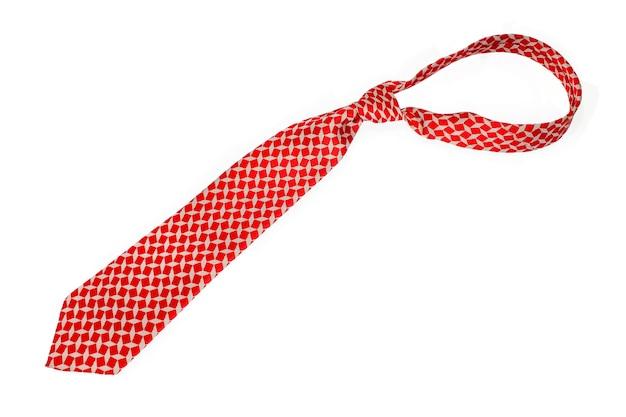 Belle cravate d'affaires sur les affaires de cravate blanche sur fond blanc