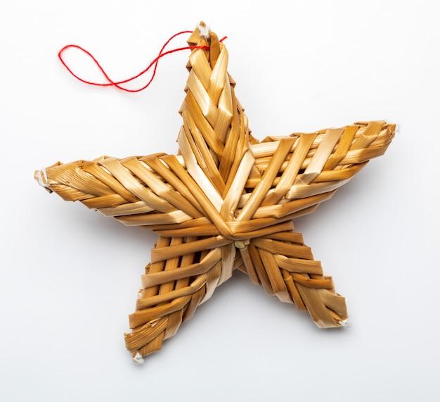 Belle étoile faite de fibres végétales isolées