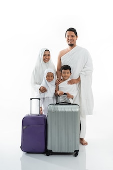 Belle famille musulmane hajj