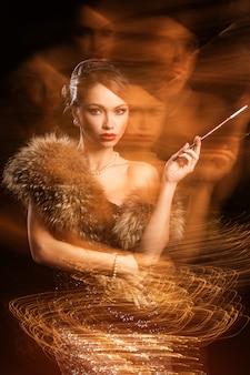 Belle femme séduisante dans un rêve