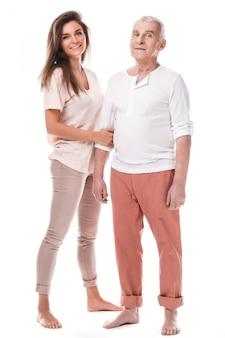 Belle femme et son père eldelry
