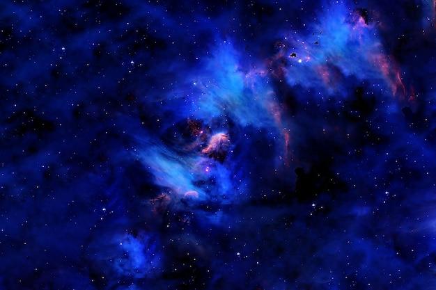 Belle galaxie bleue. les éléments de cette image ont été fournis par la nasa. photo de haute qualité