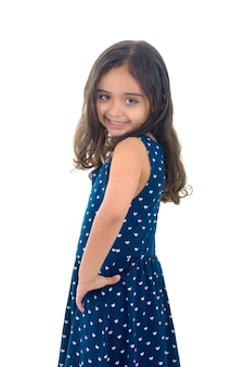 Belle jeune fille posant pour la photo
