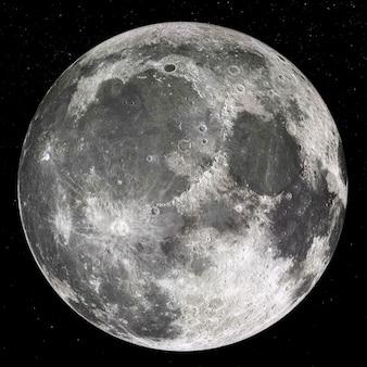 Belle lune, gros plan