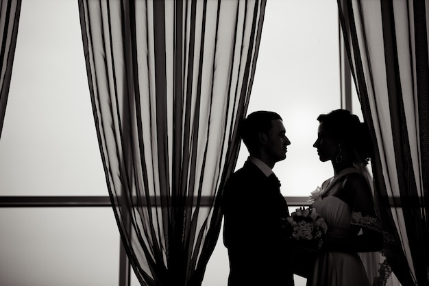 Une belle mariée et le marié