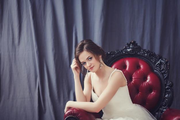 Belle mariée en robe de mariée