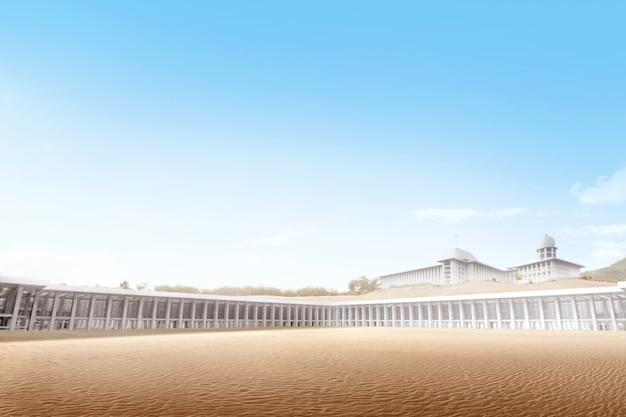 Belle mosquée dans le désert