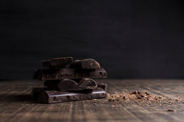 Belle nature morte avec le concept de chocolat