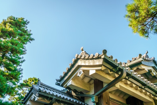 Belle palais impérial à tokyo, japon