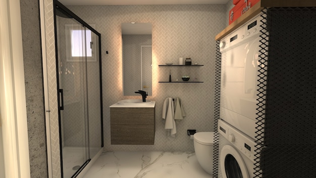 Belle petite salle de bain