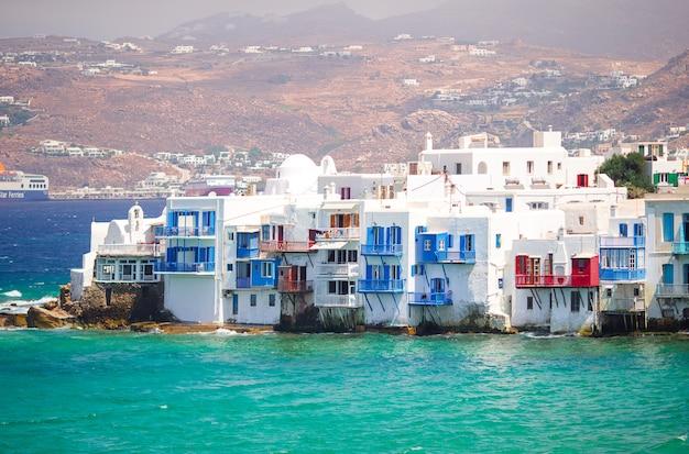Belle petite venise sur l'île de mykonos en grèce, dans les cyclades