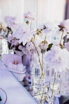 Belle photo de fleurs aux nuances délicates