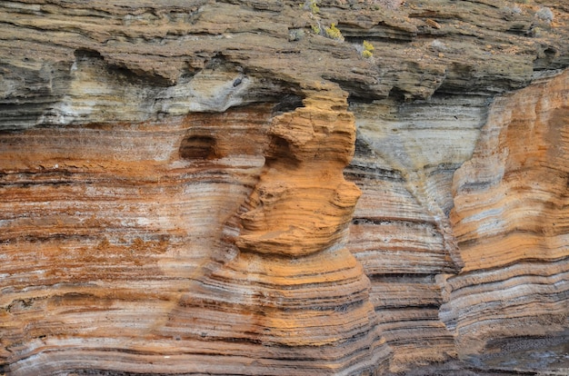 Belle photo de gran canaria basaltique des îles canaries en espagne
