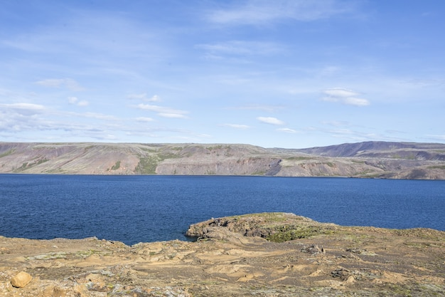 Belle photo de la péninsule de reykjanes skaginn en islande