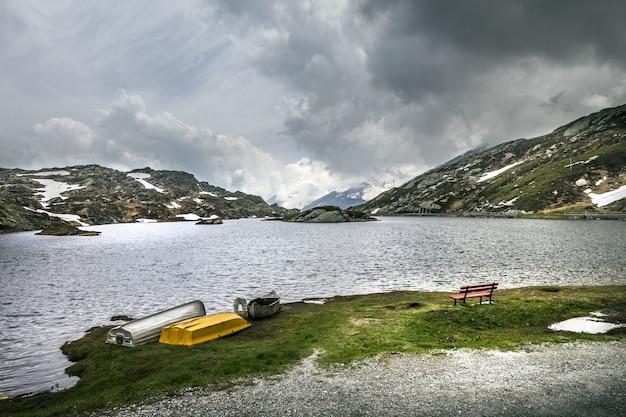 Belle photo de san bernardino, svizzera