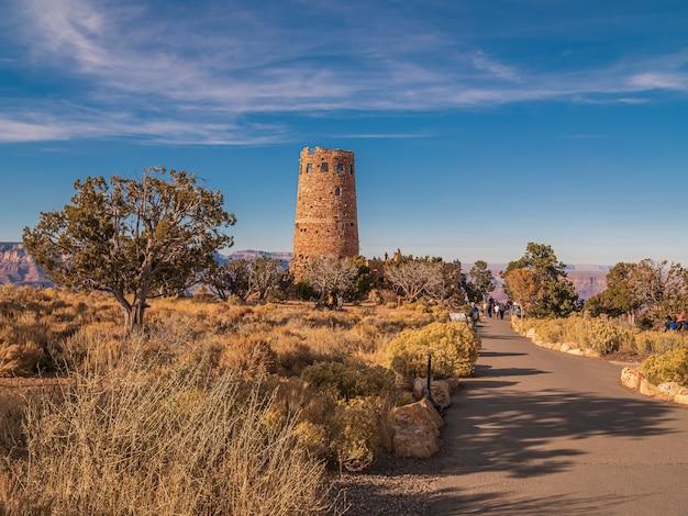 Belle photo de la tour de guet dans le parc national du grand canyon aux etats-unis