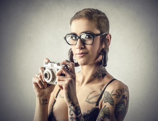 Une belle photographe