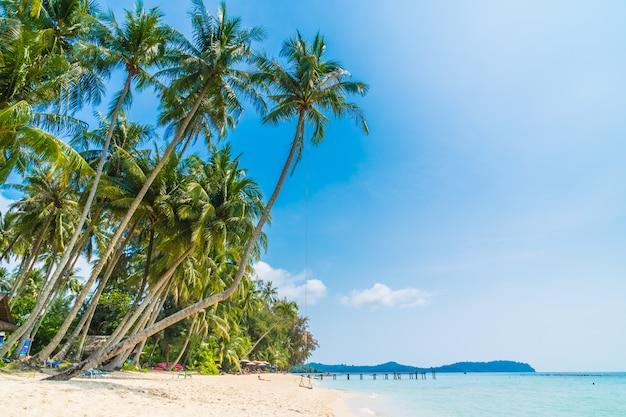 Belle plage tropicale et mer