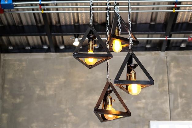 Belle rétro lampe de lumière de luxe décor lumineux