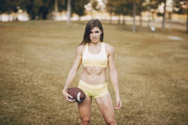 Belle sportive