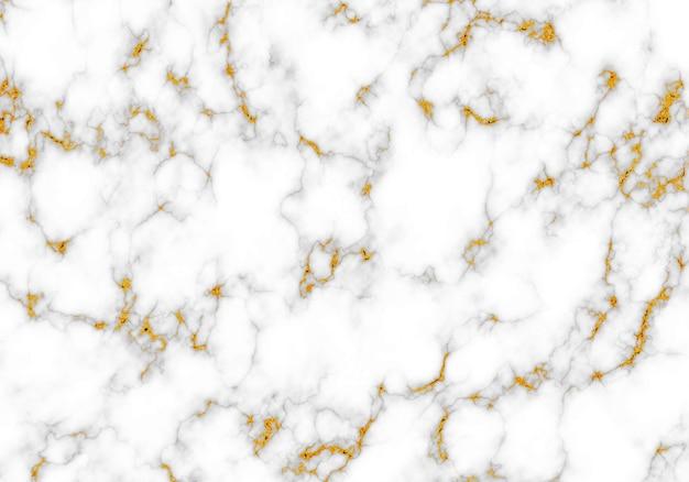 Belle texture de marbre noir et blanc avec des éléments d'or