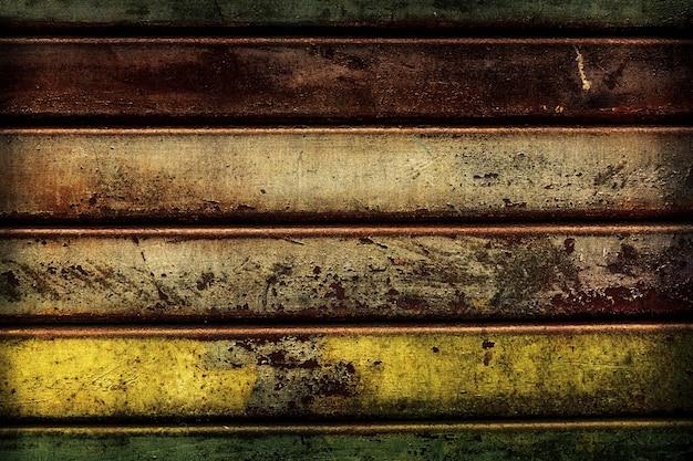 Belle texture de rayures en métal rouillé grunge antique. horizontal. espace de copie. modèle.