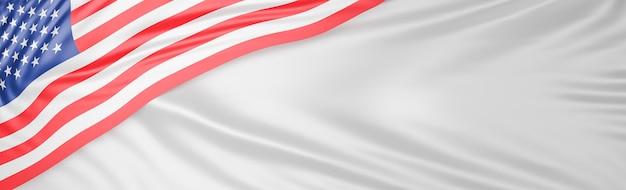 Belle vague de drapeau américain se bouchent