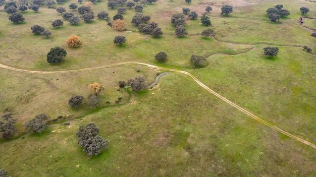 Belle vue aérienne de la campagne