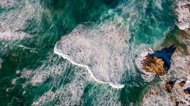 Belle vue aérienne de la côte