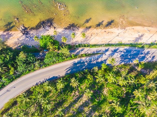 Belle vue aérienne de la plage et la mer dans la province de chumphon en thaïlande