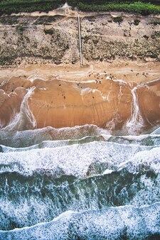 Belle vue aérienne d'une plage