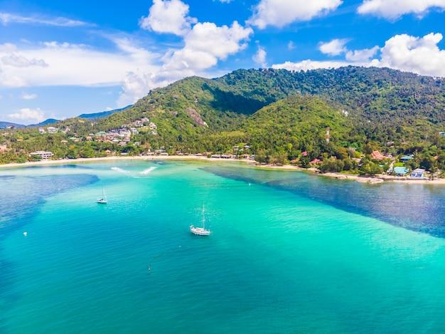 Belle vue aérienne de la plage