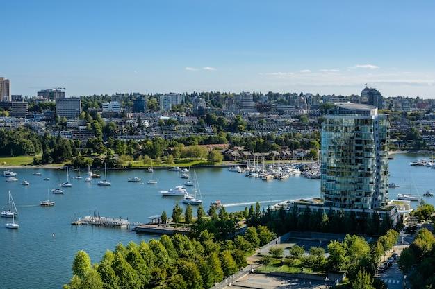 Belle vue sur le centre-ville de vancouver