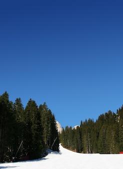 Belle vue sur les montagnes sur un ciel bleu parfait