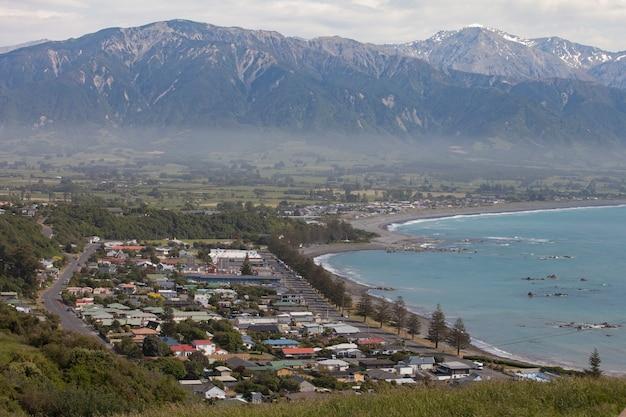 Belle vue sur les montagnes à kaikoura, nouvelle-zélande