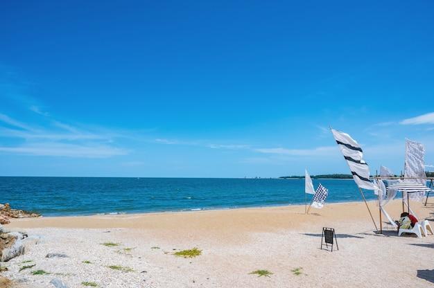 Belle vue sur le paysage marin à huahin prachuap khiri khan thailand.hua hin est une station balnéaire sur le golfe de thaïlande