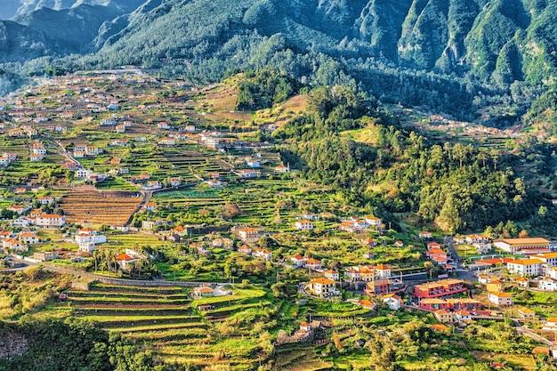 Belle vue paysage de mountain village, madeira, portugal.