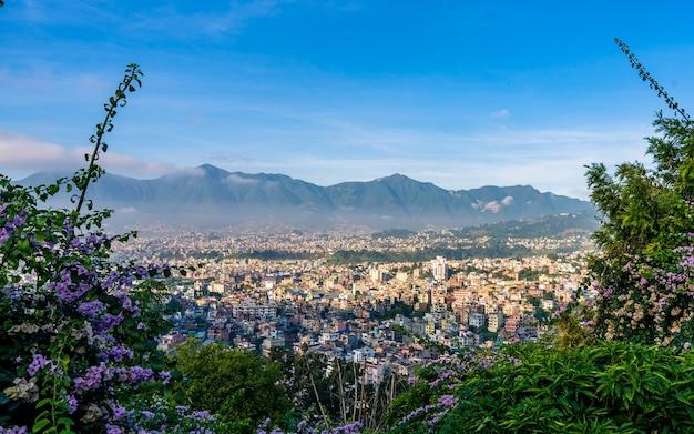 Belle vue paysage de la ville de katmandou au népal