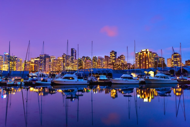 Belle vue à vancouver downtown, colombie-britannique, canada